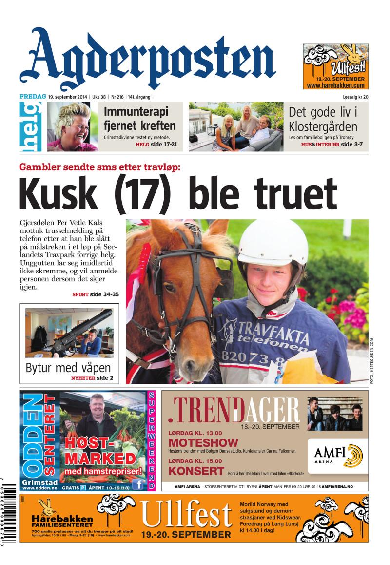 Agderposten - 2014-09-19