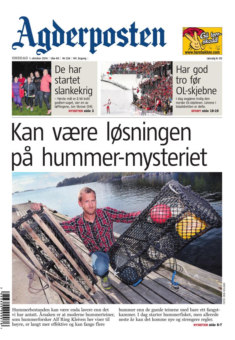 Agderposten - 2014-10-01