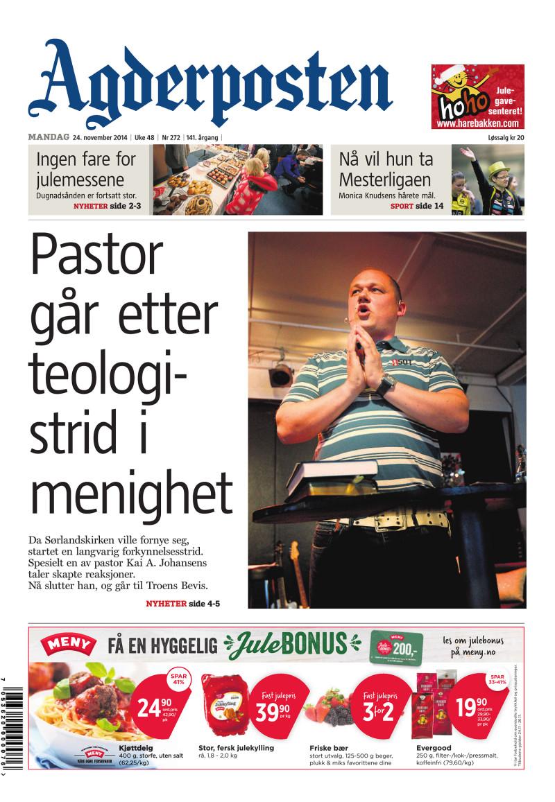 Agderposten - 2014-11-24