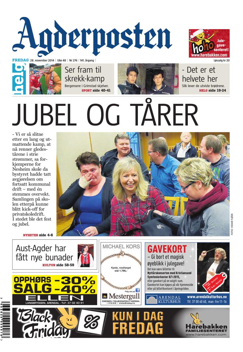 Agderposten - 2014-11-28