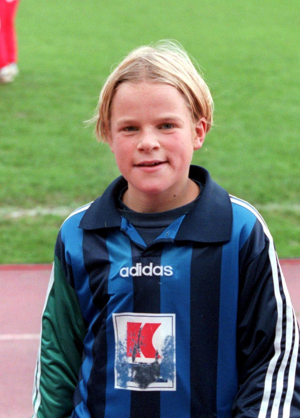 spent: Henning Hauger som liten Stabæk-gutt. FOTO: KARL BRAANAAS