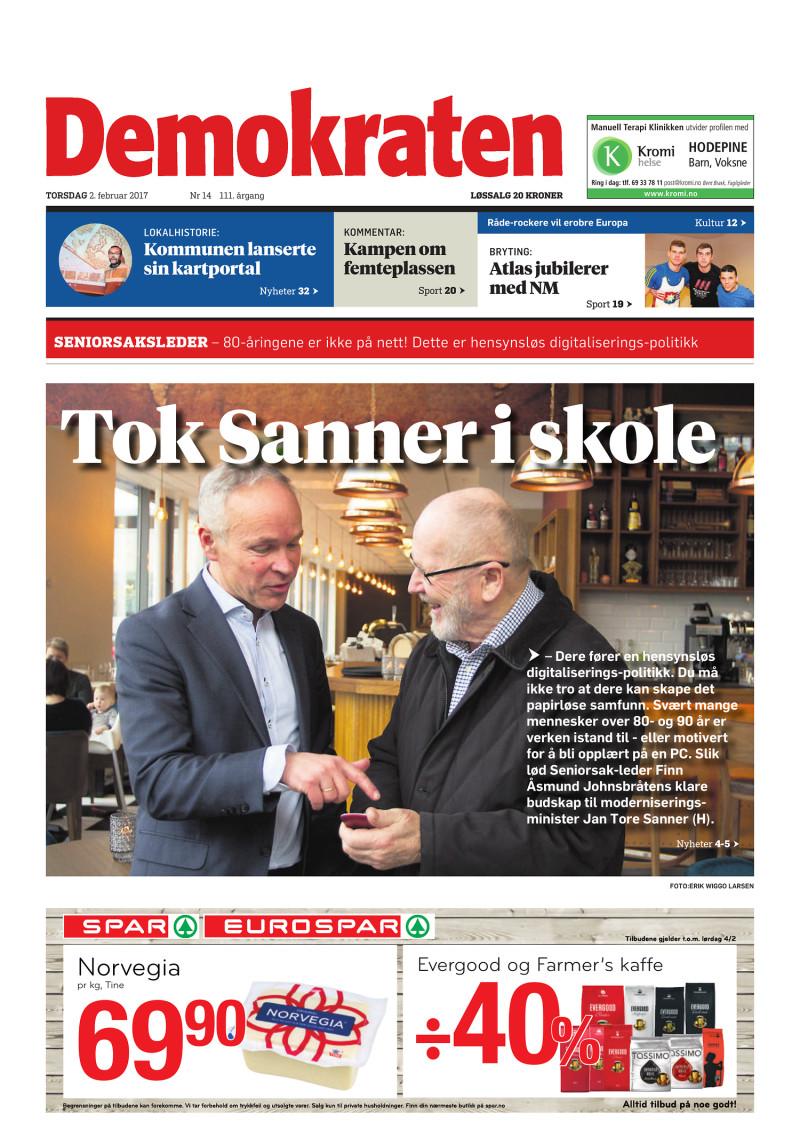 Forsiden av Demokraten - 02-02-2017