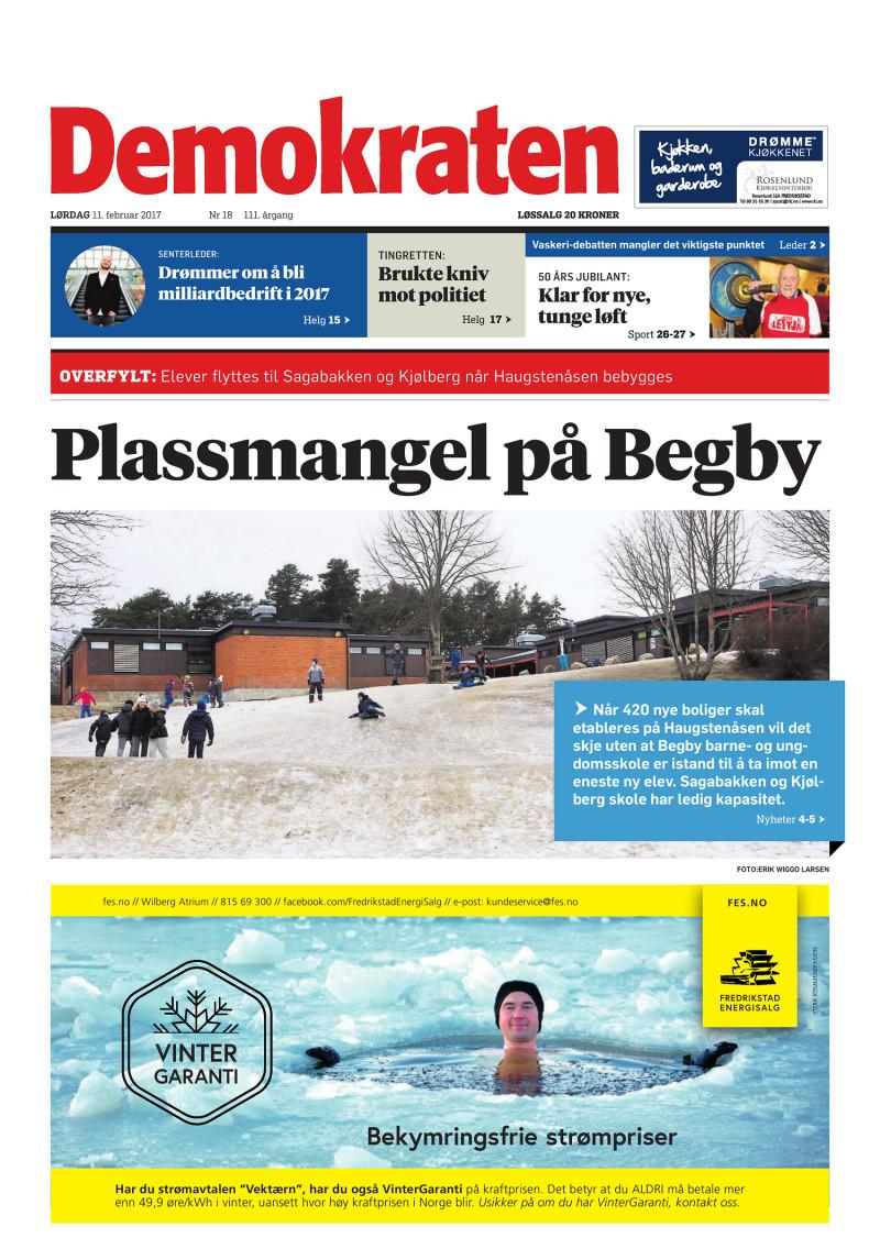 Forsiden av Demokraten - 11-02-2017