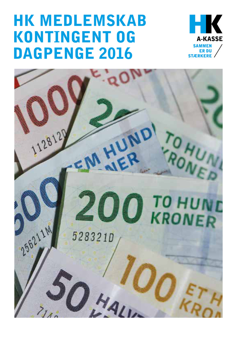 dagpenge udbetaling 2016