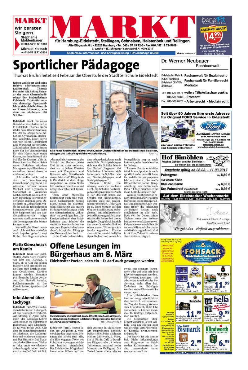 Wochenendzeitung für Hamburg-Eidelstedt, Stellingen, Schnelsen ...