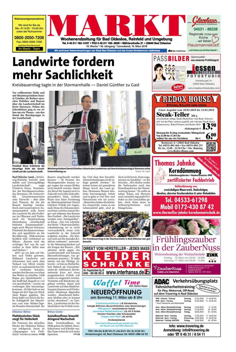 Wochenendzeitung für Bad Oldesloe, Reinfeld und Umgebung - 10.03.2018