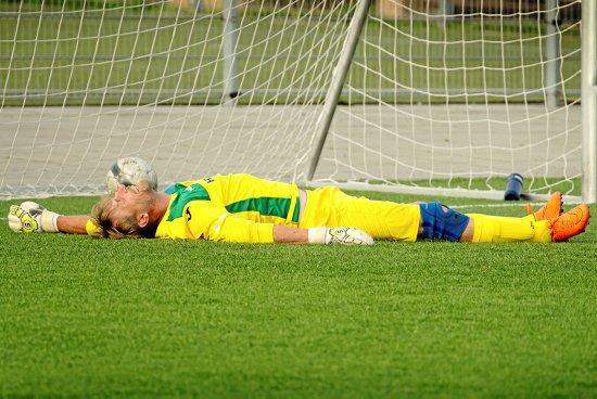 Det var ikke den Tårnborg IF-målmand, som RGI's spillere håbede på. Han var god, men måtte alligevel give fortabt, da RGI scorede til 5-4.