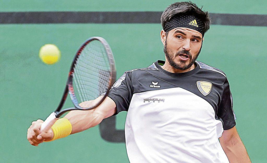Dauerbrenner: Dragos Dima, Aufstiegsheld von 2019, stand in allen  drei Partien des TuS Sennelager in der 1. Tennis-Bundesliga auf dem Platz und ist auch am kommenden Sonntag beim Heimspiel gegen BW Krefeld für einen Einsatz vorgesehen.