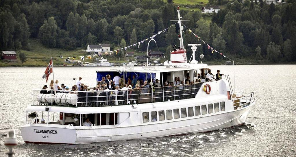 TORSDAGER: I juli blir det bluescruise med MS Telemarken på Heddalsvatnet hver torsdag kveld.