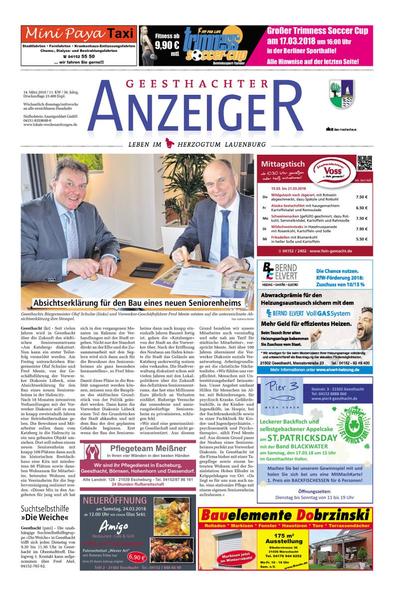 Geesthachter Anzeiger   14.03.2018