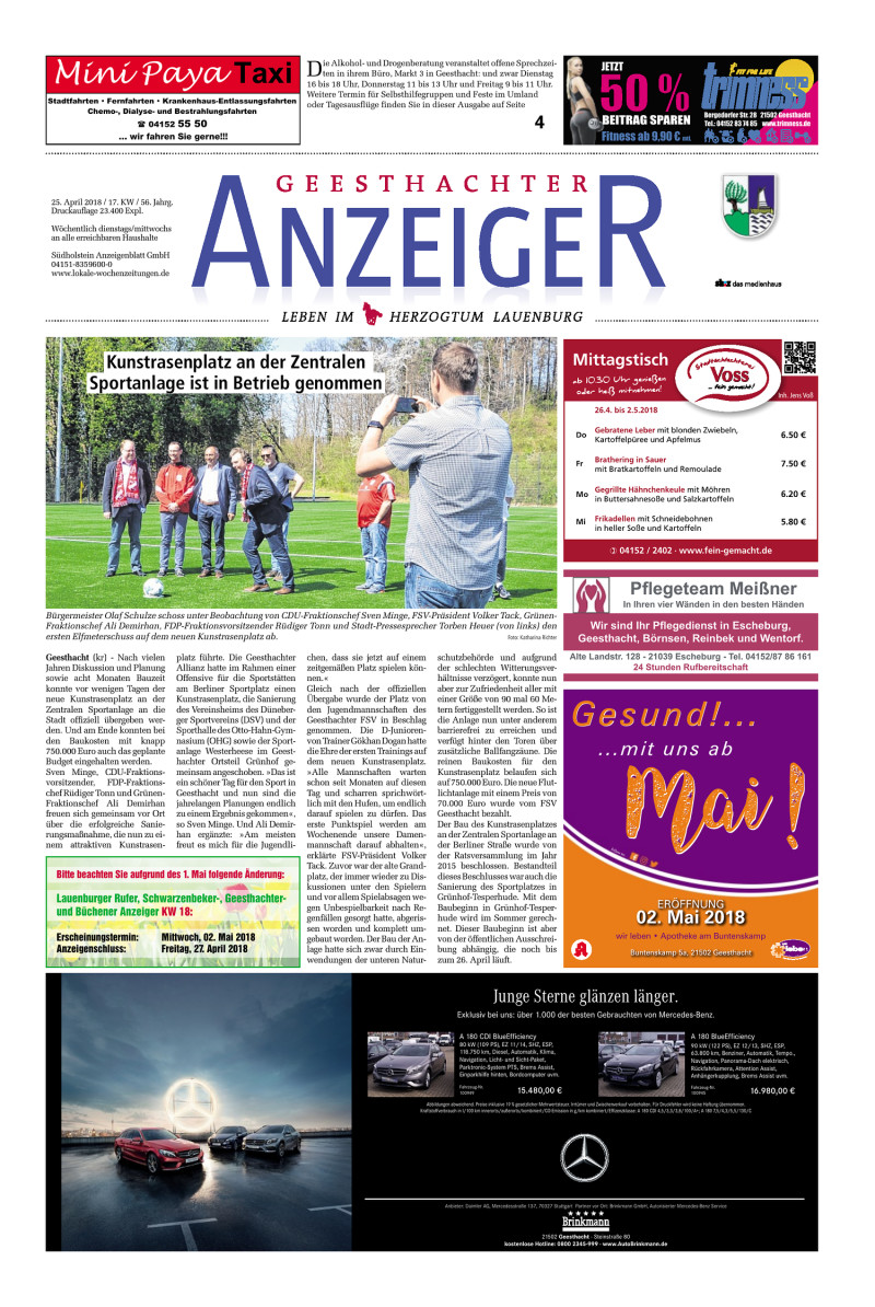 Geesthachter Anzeiger   25.04.2018