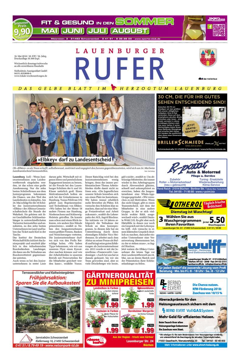 Lauenburger Rufer - 16.05.2018