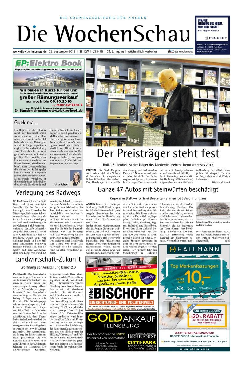 Wochenschau Angeln 22092018