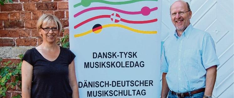 Freuen sich aufs klingende Husum: Kreismusikschulleiter Henning Bock und seine Stellvertreterin Wiebke Wucher.sis