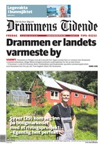 Forside Drammens tidende