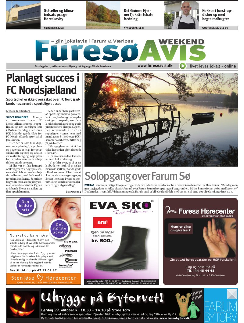 Lokalavisen dk - Furesø Avis Weekend - Uge 43