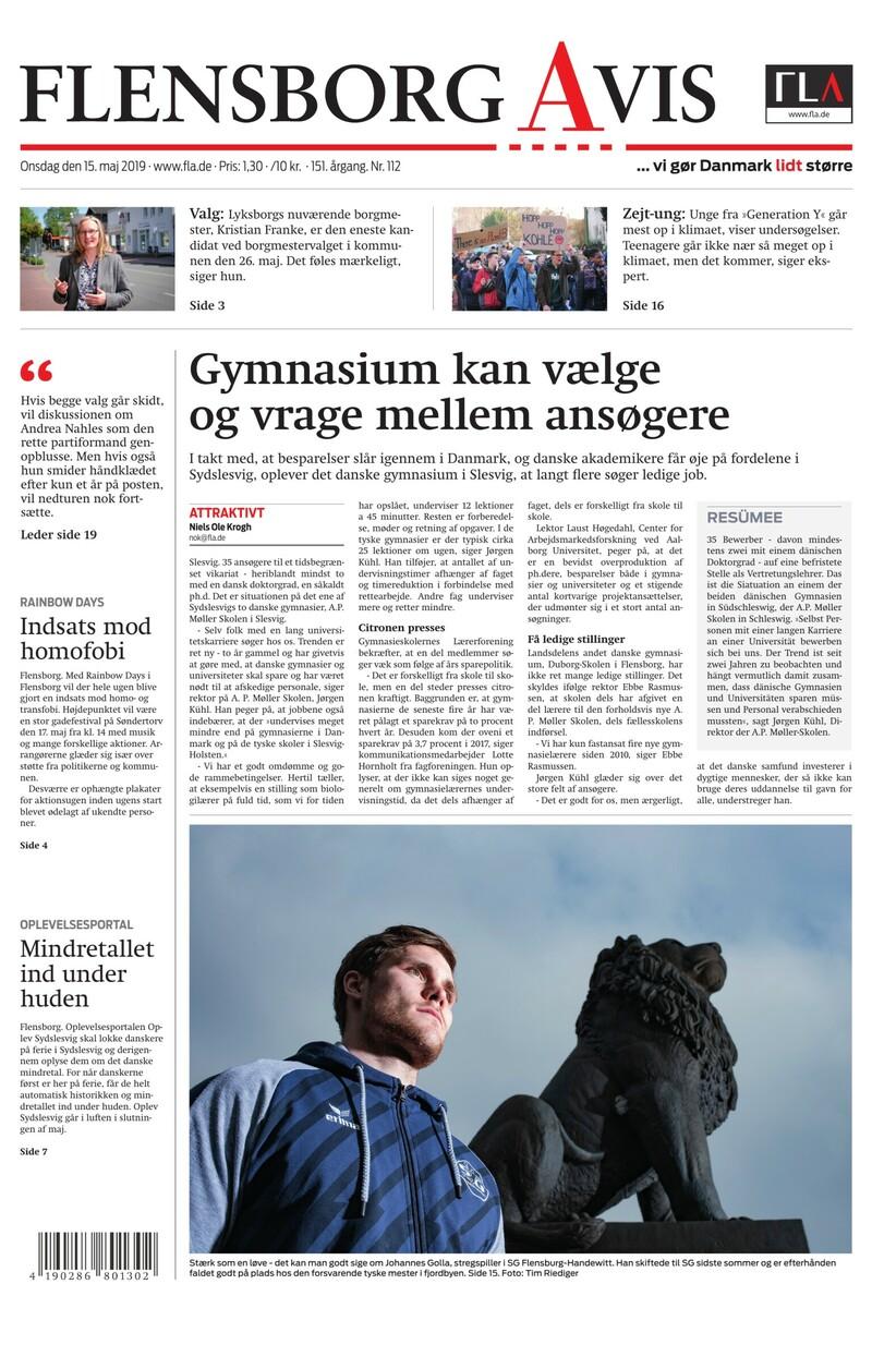 Flensborg Avis Onsdag, d. 15.05. GRATIS