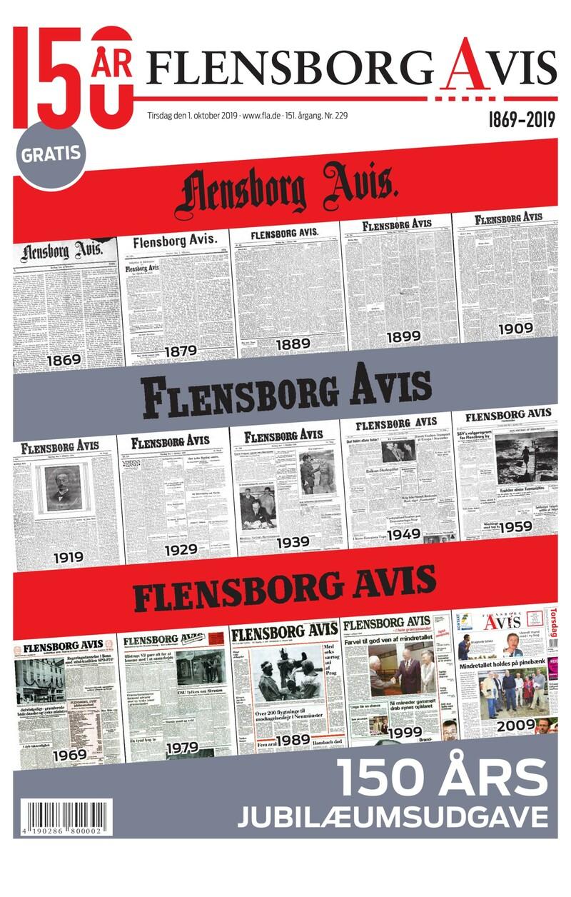 Flensborg Avis 150 års jubilæum GRATIS