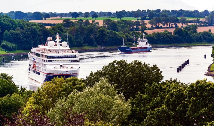 Der NOK hilft dabei, die CO2-Emissionen im Schiffsverkehr zu senken. IMAGO/penofoto