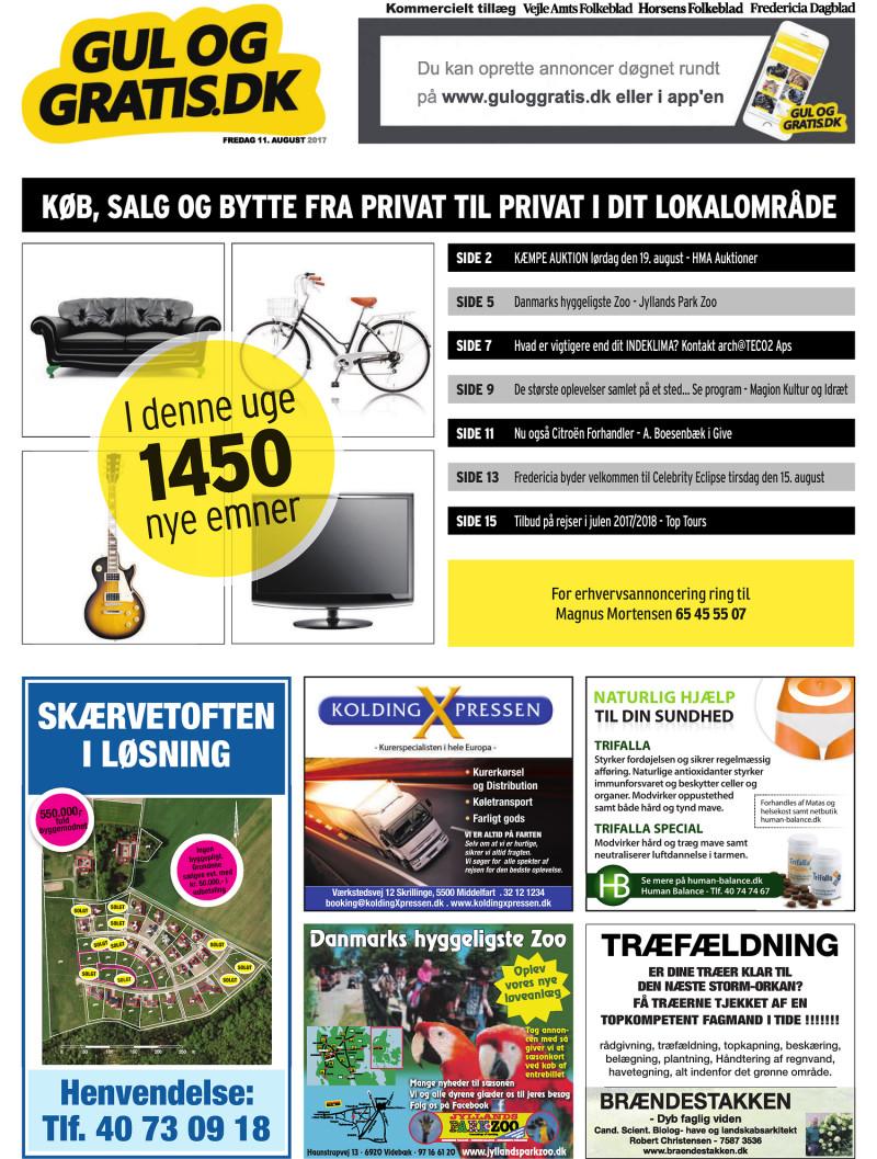 09d3f9f9 Gul og Gratis - Vejle Amtsfolkeblad - 11-08-2017