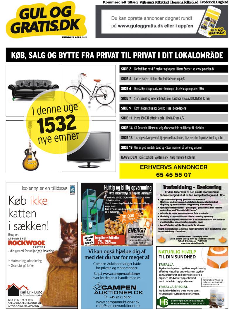 Gul og Gratis Vejle Amtsfolkeblad 20 04 2018
