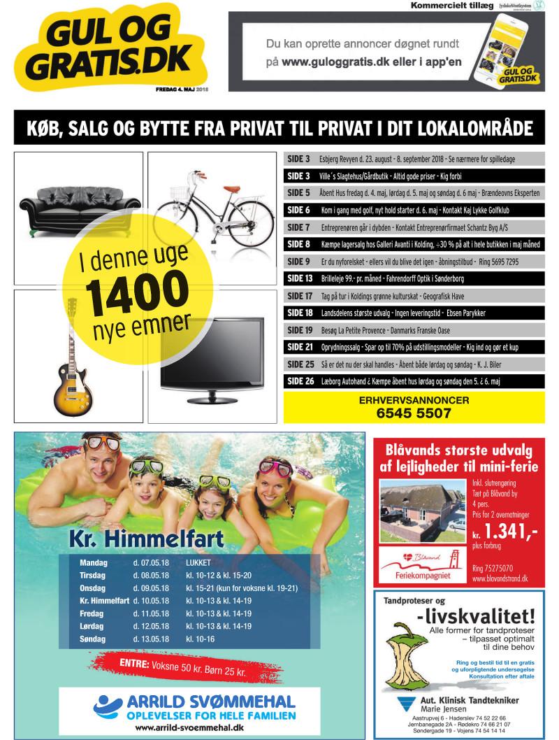 Gul og Gratis Jydske Vestkysten 04 05 2018