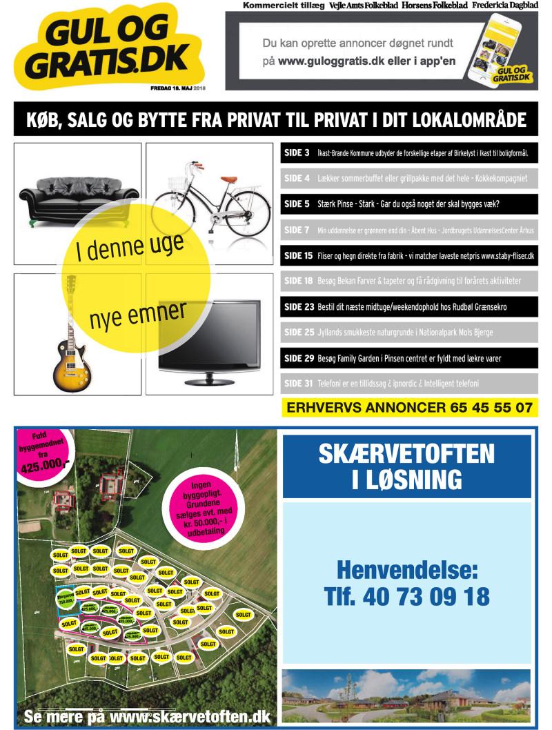 Gul og Gratis Vejle Amtsfolkeblad 18 05 2018