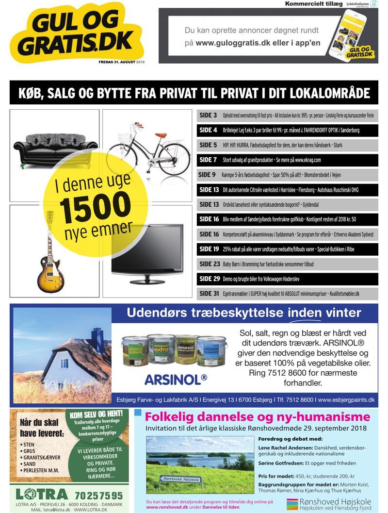 6d4c40373205 Gul og Gratis - Jydske Vestkysten - 31-08-2018