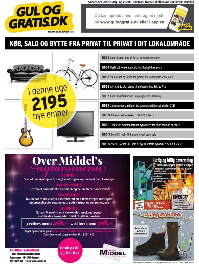 Gul og Gratis Vejle Amtsfolkeblad 21 12 2018