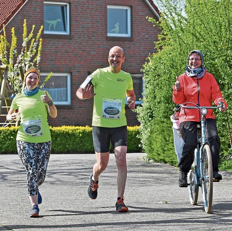 Laufen im Familienkreis heißt es auch bei Familie Amft aus Wittmund. Im vergangenen  Jahr gab es sogar ein persönliches Versorgungsfahrzeug.   BILD: Jochen Schrievers