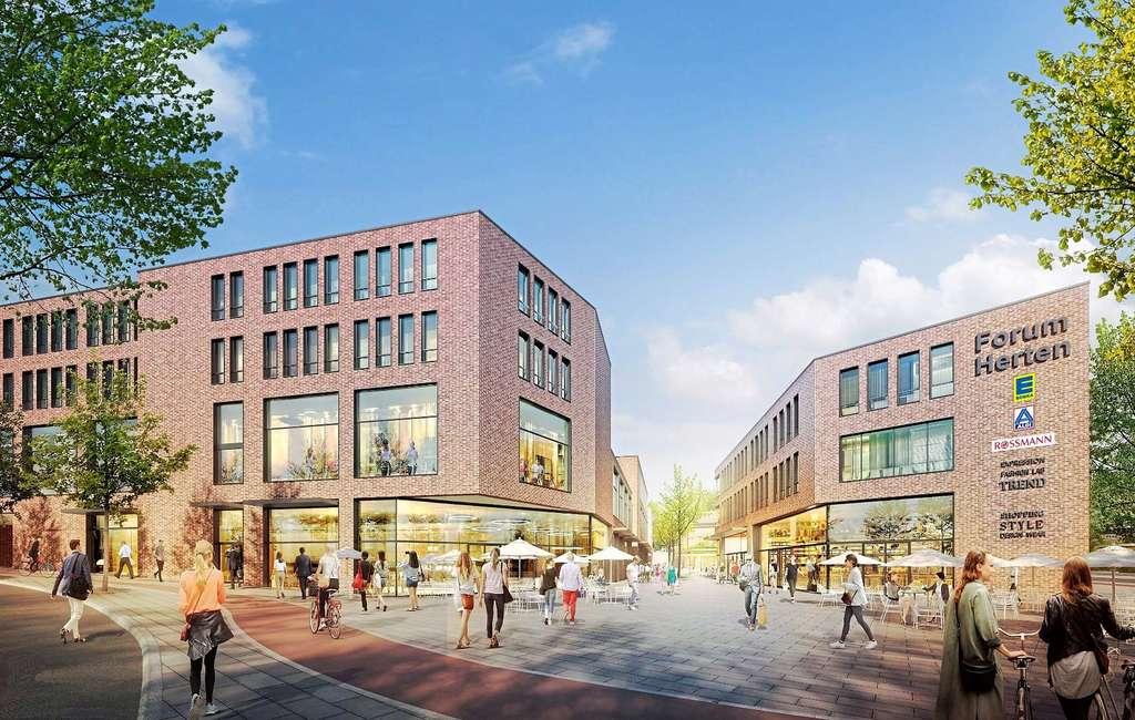 Das geplante Herten-Forum.  —Grafik: RKW Architektur+