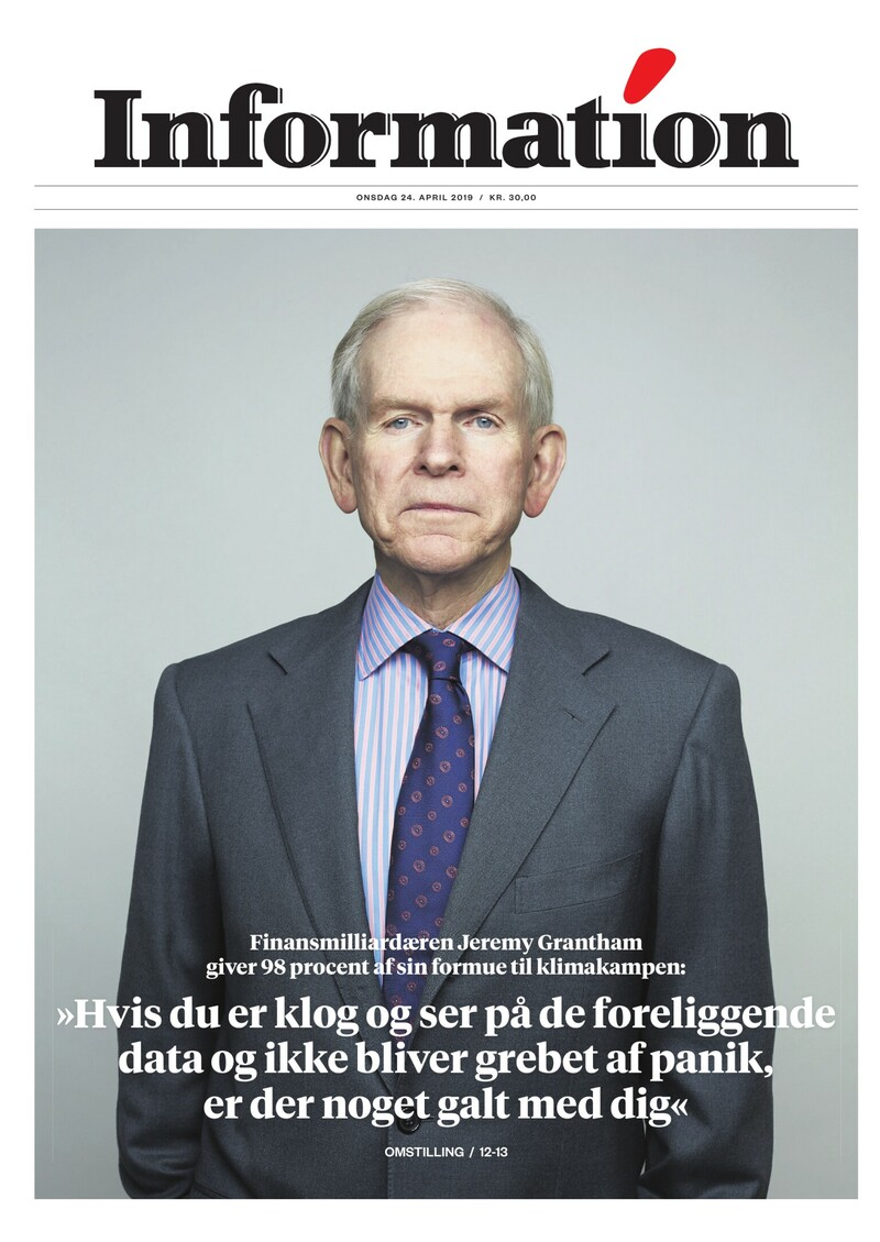 Dagbladet Information forside <span>Onsdag</span> 24. april 2019