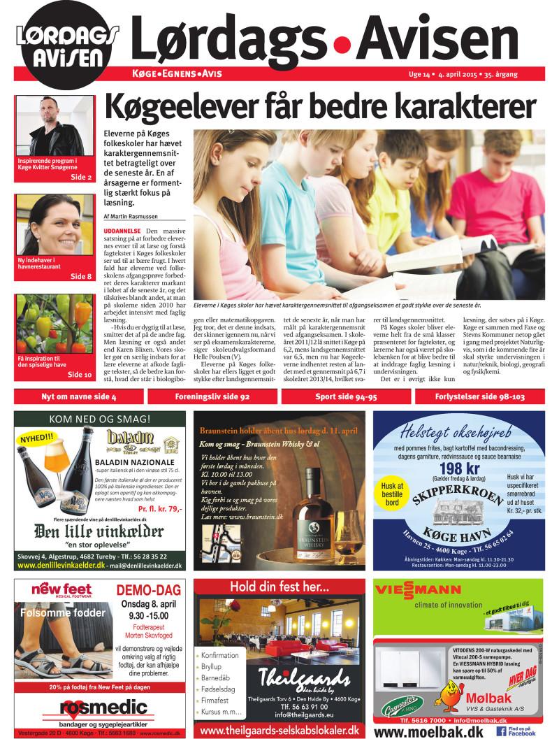 Picture of: Lokalavisen Dk Lordagsavisen Koge Uge 14