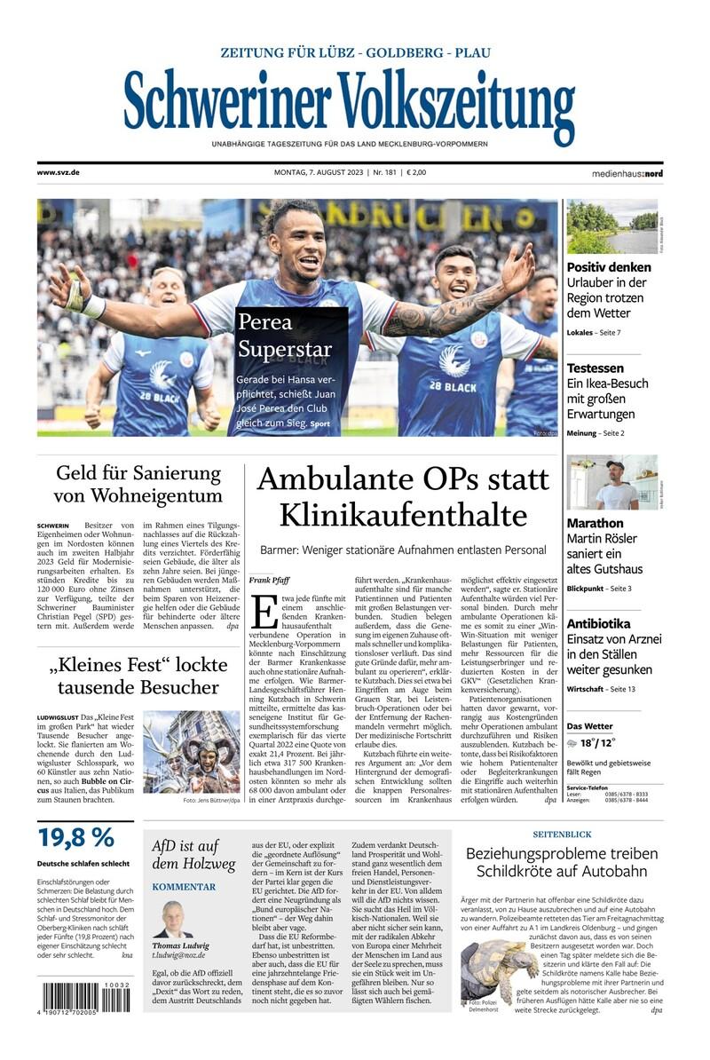 Zeitung fuer Goldberg-Luebz-Plau