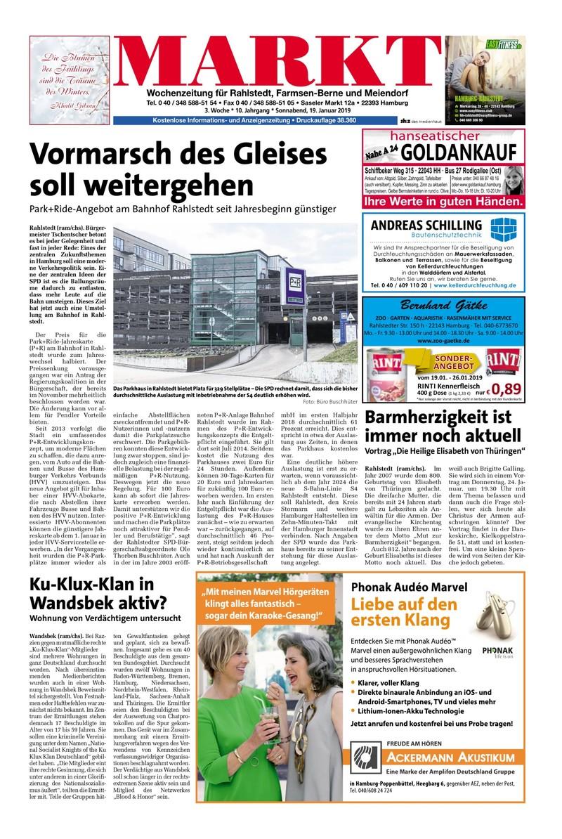 Wochenzeitung Fur Rahlstedt Farmsen Berne Und Meiendorf 19 01 2019
