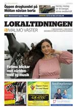 Förstasida Lokaltidningen Malmö Västra