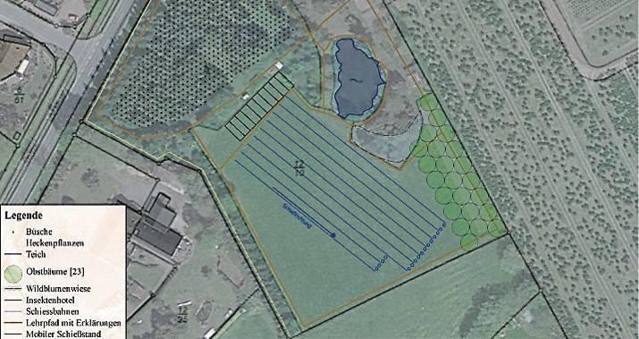Blick auf das fast 15 000 m² große Areal der Schützen. Bis März soll es ökologisch aufgewertet werden. BILD: Schützenverein