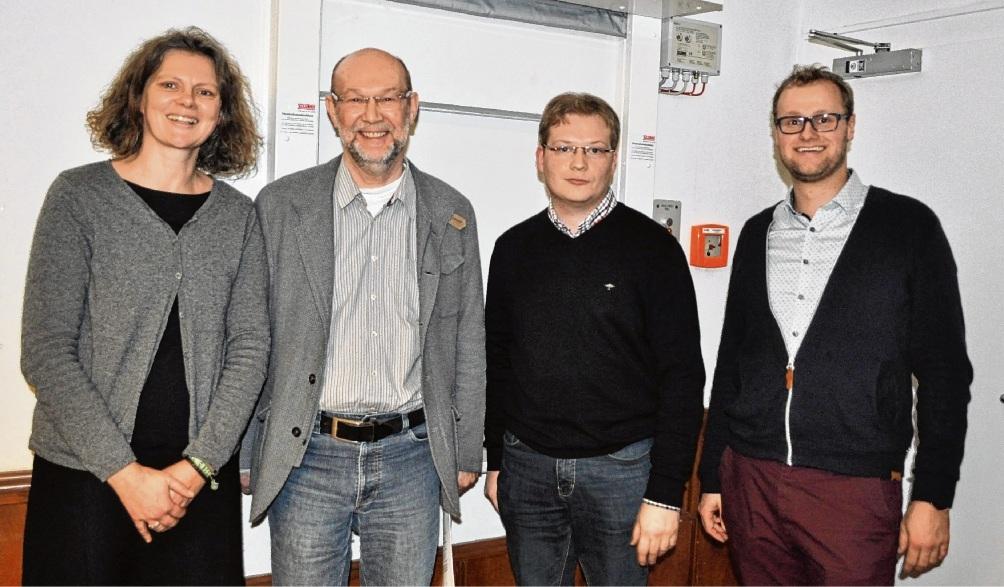 Ansprechpartner für die Förderung von Kulturzentren sind Claudia Koch (v.l.), Bernd Ostendorff, Matthias Schipper und Jonas Siewertsen. Köhler