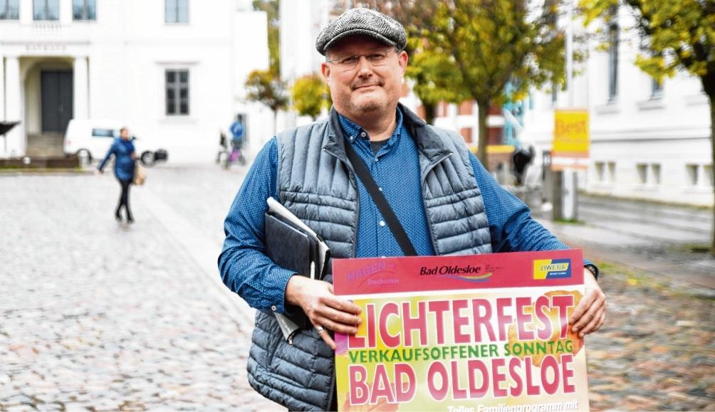 Einzelkämpfer bei den  verkaufsoffenen Sonntagen in der Kreisstadt: Hans-Jörg Steglich.  Er hadert mit   Geschäftskollegen.nie