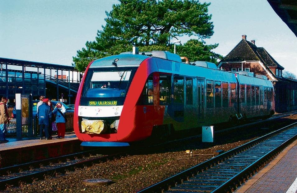 Fahrten der    nordbahn – hier in Oldesloe – fallen aus.rob