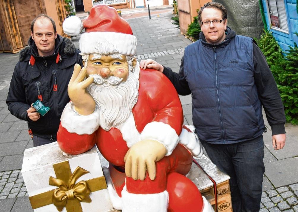 Bauen bereits in der Mühlenstraße auf:  Sebastian Hagen (l.) und Benjamin Sablik.Nie