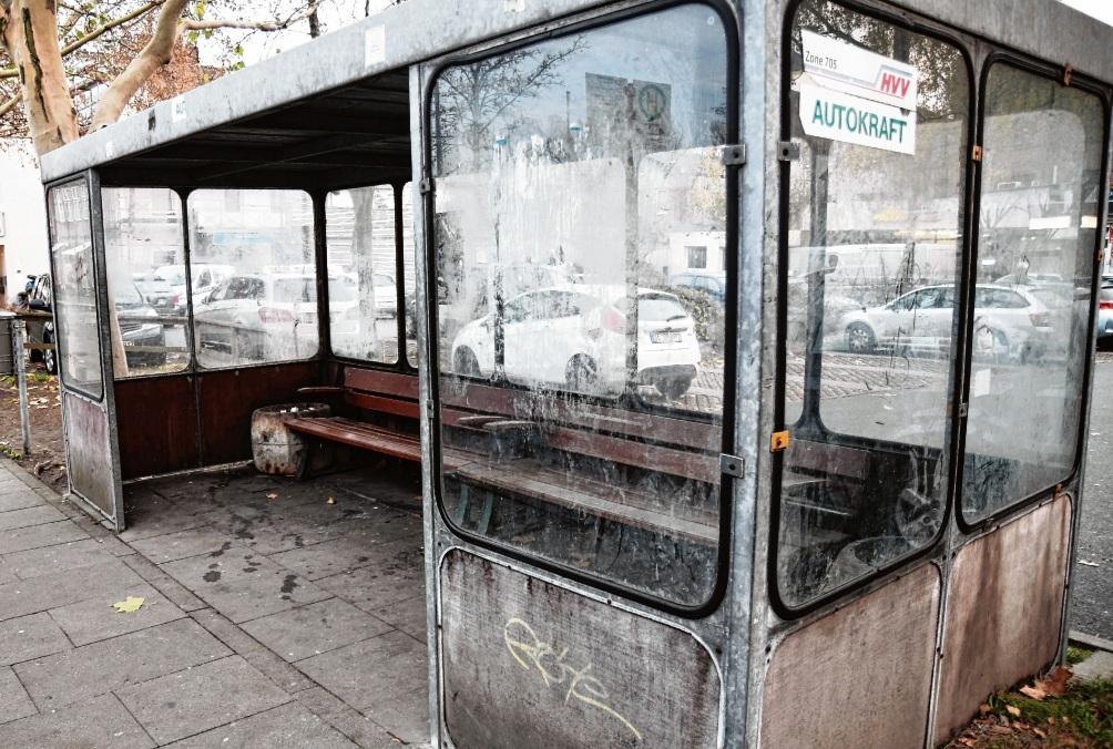 Kein positiver Hingucker: Die Bushaltestelle in der Hagenstraße
