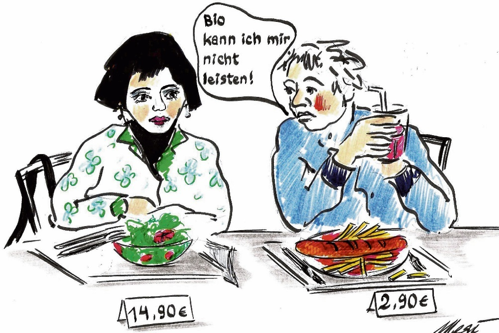 Bio im Mensabetrieb der Stadtschule in Bad Oldesloe: Gut, aber nicht günstig.Megi Balzer