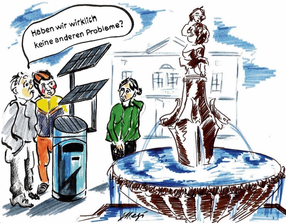 Solar-Mülleimer für Bad Oldesloe?Megi Balzer