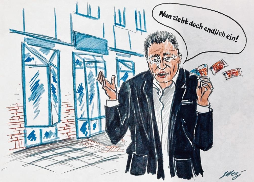 Derzeit ist kein Geschäft mit dem leeren Geschäft in Bad Oldesloes Innenstadt zu machen. Megi Balzer