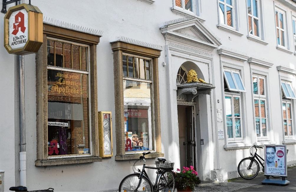 Denkmalgeschützt:  Die Löwenapotheke in der Oldesloer Hindenburgstraße schließt  am 30. September ihre Türen.Niemeier