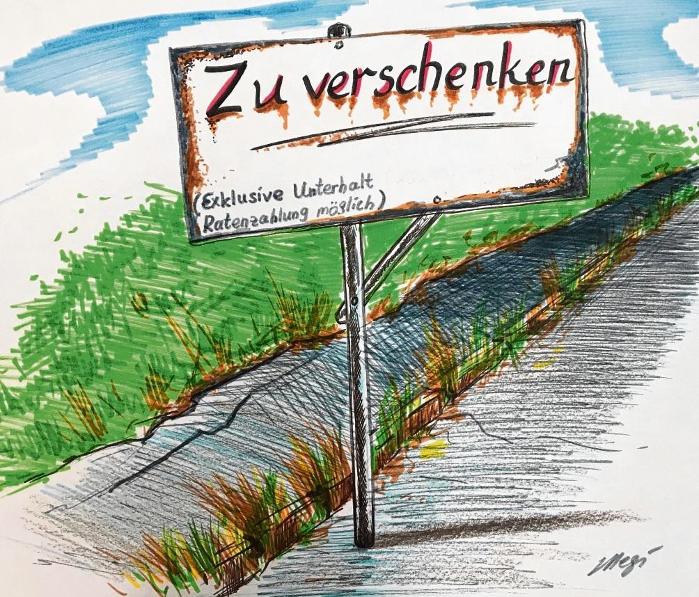 Der Gehweg entlang der K12  zwischen Lasbek-Dorf und Lasbek-Gut ist ein Politikum. Megi Balzer