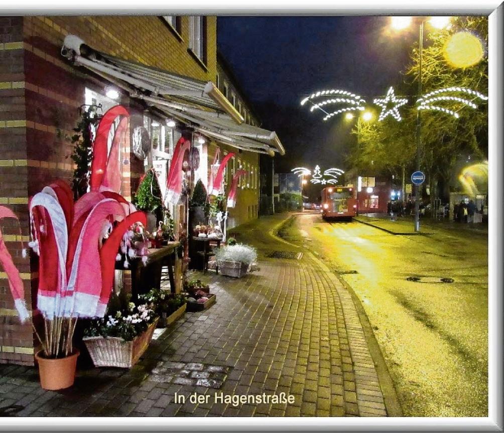 Die Hagenstraße im Dezember. Schwitzke