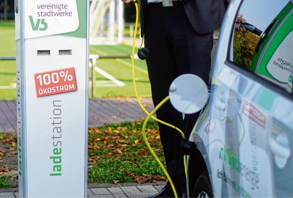 Auf dem Exer unterstützt bereits eine E-Tankstelle der VSG die  E-Fahrzeuge.Nie