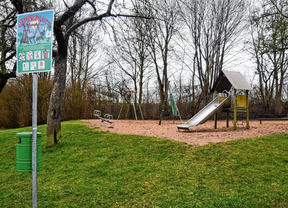 """Etwas trist: Der Spielplatz an der """"Dammanschen Koppel""""."""